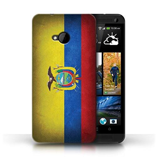 Etui / Coque pour HTC One/1 M7 / Equateur/équatorien conception / Collection de Drapeau