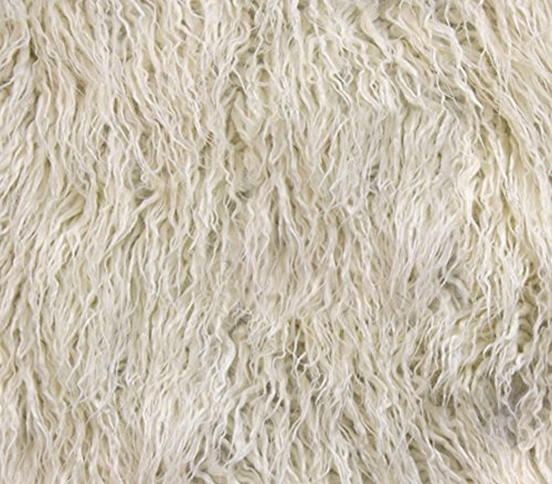 Faux Fake Animal Fur Fabric Long Pile Mongolian Sheep / 64