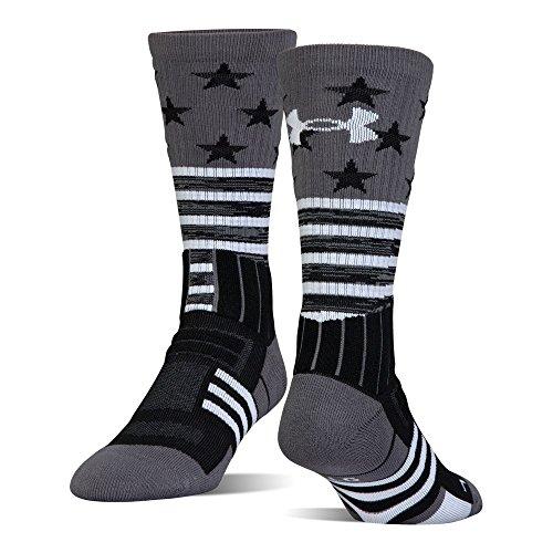 Under Armour Unrivaled Stars & Stripes Crew Single Pr Athletic Socks, Black, Large