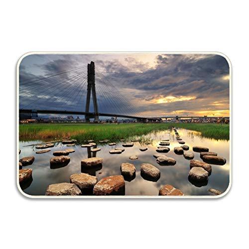 Andrew Brown City Bridge Bathroom Kitchen Rug Mat Welcome Door MatSchool Printed - Andrews Bridge