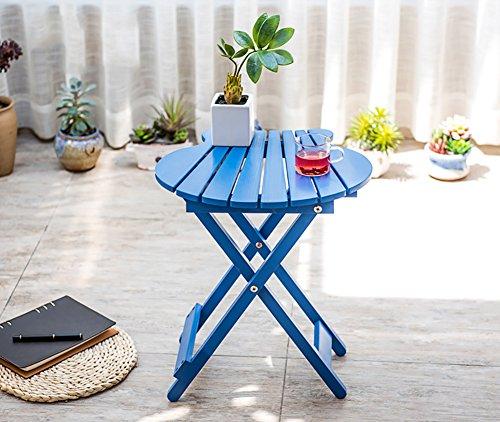 ZJM- Fan-Shaped Flower Shelf Foldable Flower Pot Rack (Color : Blue) by Flower stand (Image #2)