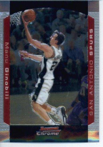 2004 05 Bowman Chrome Basketball Card #102 Manu Ginobili San Antonio -
