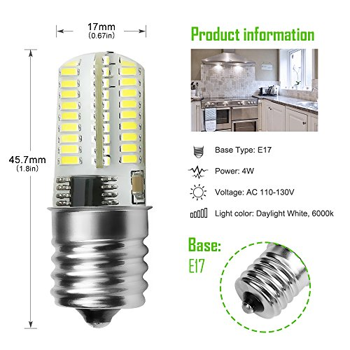 Kakanuo E17 LED Bulb Microwave Oven Light Dimmable 4 Watt