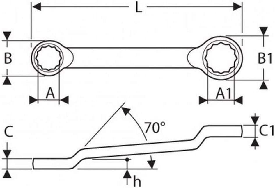 Metrisch 19x22 Mm EXPERT E111502 Gekr/öpftte Ringschl/üssel