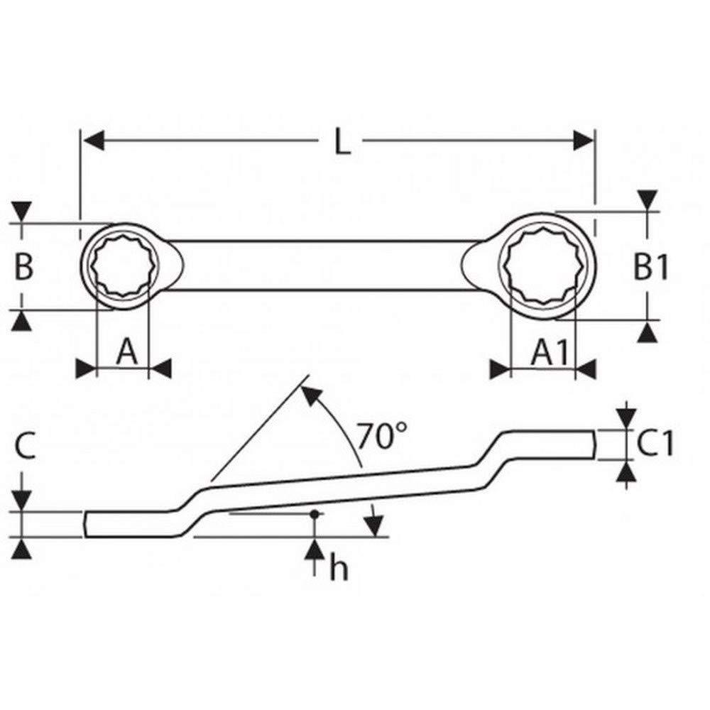Metrisch 6x7 Mm EXPERT E113321 Gekr/öpfte Ringschl/üssel