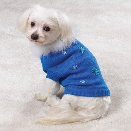East Side Collection bluee Bijou Dog Sweater Large by East Side Collection