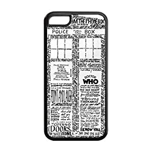 Custom Police Box Hard Protective Back Cover Case for iPhone 5C