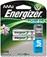 Energizer Recharge Power Plus AAA 2300 mAh Rechargeable Batteries, Pre-Charged,  2 count