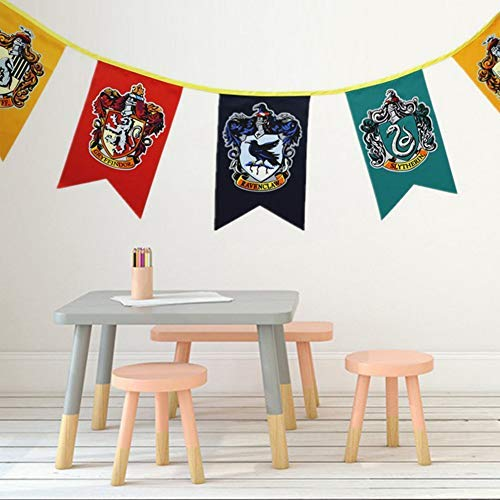 Harry Potter Hogwarts House Banners Wall Flags, Ultra Premium Complete Double Layered Indoor Outdoor Party Flag - Gryffindor, Slytherin, Hufflepuff, Ravenclaw - 30''X 50'' (Banner-2pcs)