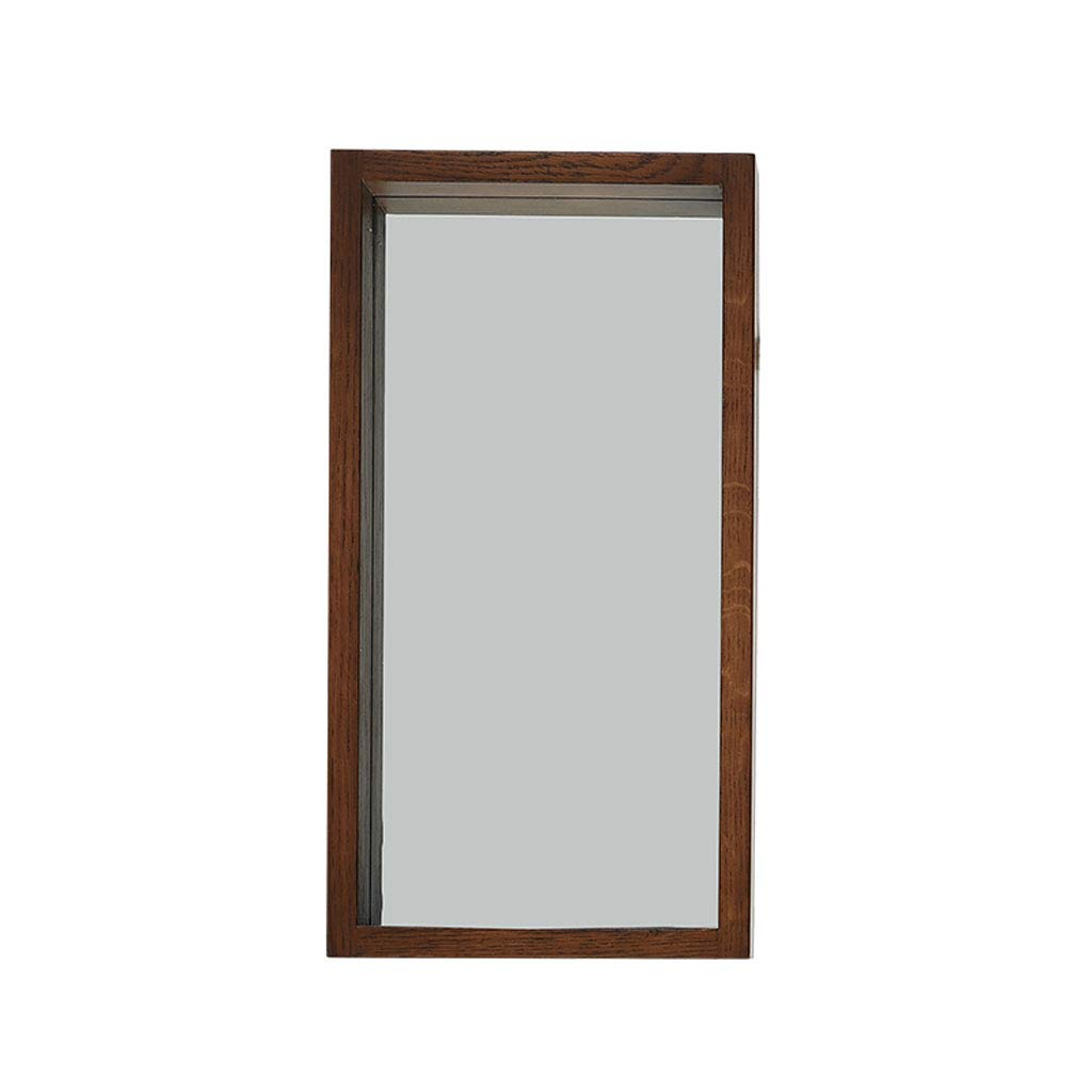 HGXC Makeup Mirror, Modern Minimalist Bathroom Solid Wood Square Wall Mounted HD Makeup Mirror Mirror (Size : 2650cm)