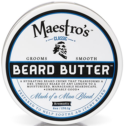 Maestro's Classic Mark of a Man Beard Butter, 8 Ounce by Maestro's Classic