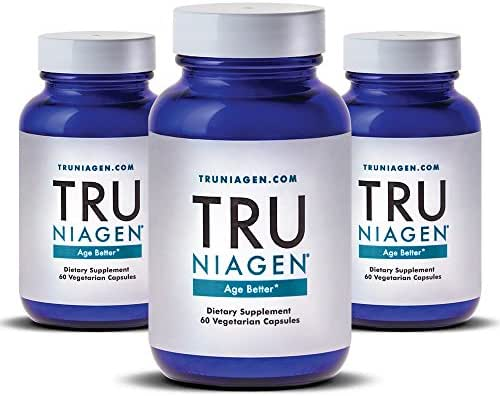 TRU NIAGEN® (Nicotinamide Riboside) | Advanced NAD+ Booster | Vitamin B3 | Next-Level Cellular Energy & Repair | 300mg/Serving | 60 Vegetarian Capsules Per Bottle