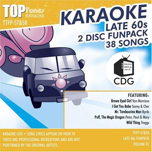 Top Tunes Karaoke CDG Late 60's TTFP-57&58 v2; Van Morrison, Sonny & Cher and The Monkees (Karaoke Top Tunes)