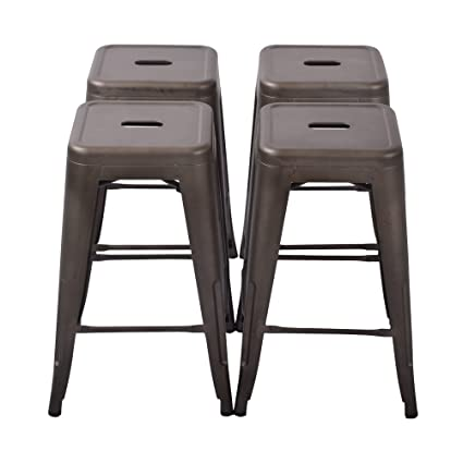 Amazoncom Changjie Furniture 24 High Backless Metal Bar Stool