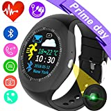 Smart Watch Fitness Tracker Heart Rate Blood Pressure Monitor for Women Men Kids Sport Watch Pedometer Activity GPS Tracker Calorie Sync Phone Call SMS for Android iOS