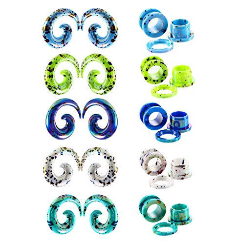 TIANMI 20 Pieces Acrylic Ear S