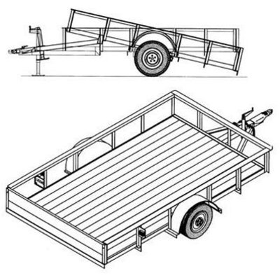 Trailer Blueprints - 10ft. x 6ft. Utility Trailer by Northern Tool & Equipment