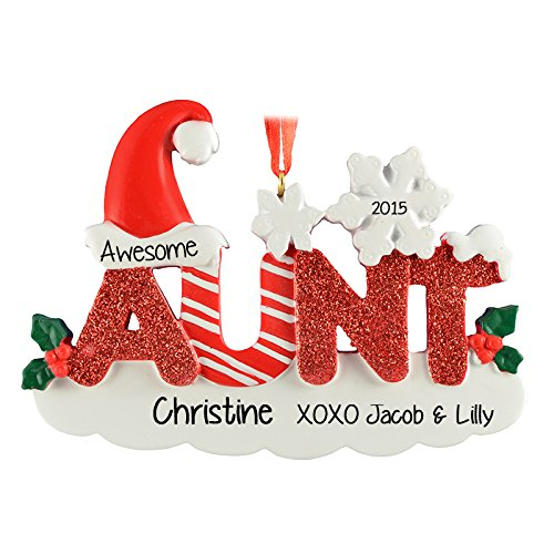 Ornaments Aunt Personalized Christmas Tree