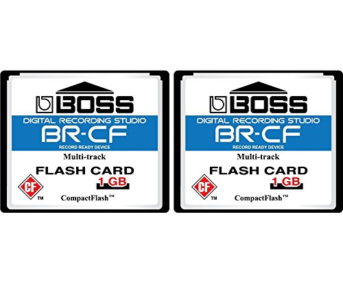 (2-Pack 1GB Boss Roland BR-CF CompactFlash CF Memory Card for BR-600, BR-864, BR-900CD, MC-808 (2Pack))
