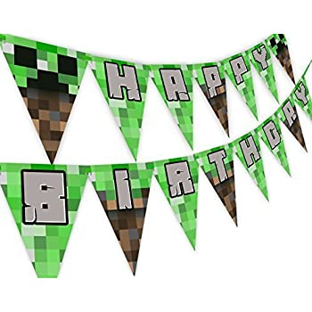 Pixel Party Happy Birthday Banner - Made in the USA