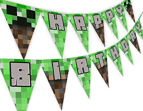 Pixel Party Happy Birthday Banner - Made in the USA by POP parties