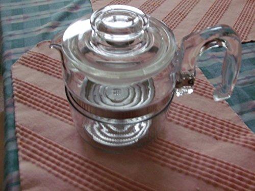 Pyrex Flameware 2-4 Cup Coffee Percolator Stovetop MINUS STEM