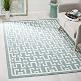 Safavieh Dhurries Collection DHU621A Hand Woven Seafoam and Ivory Premium Wool Area Rug (9′ x 12′) Review
