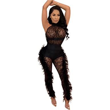 Women's Clothing Realistic Women Sexy See Through Mesh Jumpsuit Leotard Crop Tops Bodycon Jumpsuit Romper
