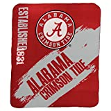 "NCAA Collegiate School Logo Fleece Blanket (Alabama Crimson Tide, 50"" x 60"")"