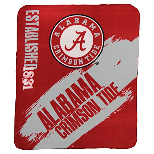 The Northwest Company NCAA Collegiate School Logo Fleece Blanket (Alabama Crimson Tide, 50
