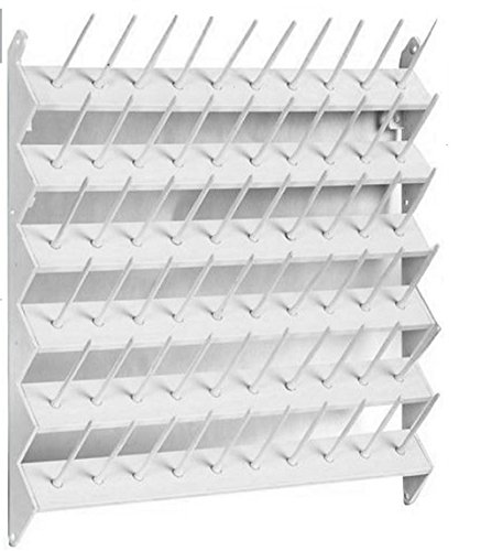 60 Spool / Thread Rack White Plastic by Blazing Autumn