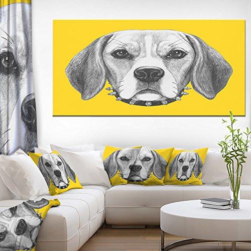 "Designart PT13178-60-28 Animal Wall Artwork, Yellow, 60"" x 28"" -  Design Art"