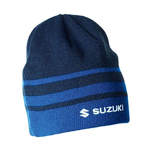 SUZUKI Team Beanie blau Wollmütze mit Fleecefutter ! Mütze