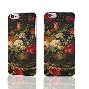 Elegant Vintage Floral Vase Photo Plastic Hard Customized Personalized 3D Case For iPhone 6 Plus - 5.5 inches