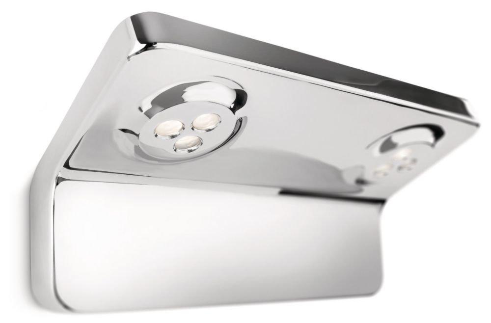 Philips VANITAS Lampada Bagno Parete LED 2x 7.5 W, Cromo, Lampadina Non Inclusa [Classe di efficienza energetica A] 34213/11/16