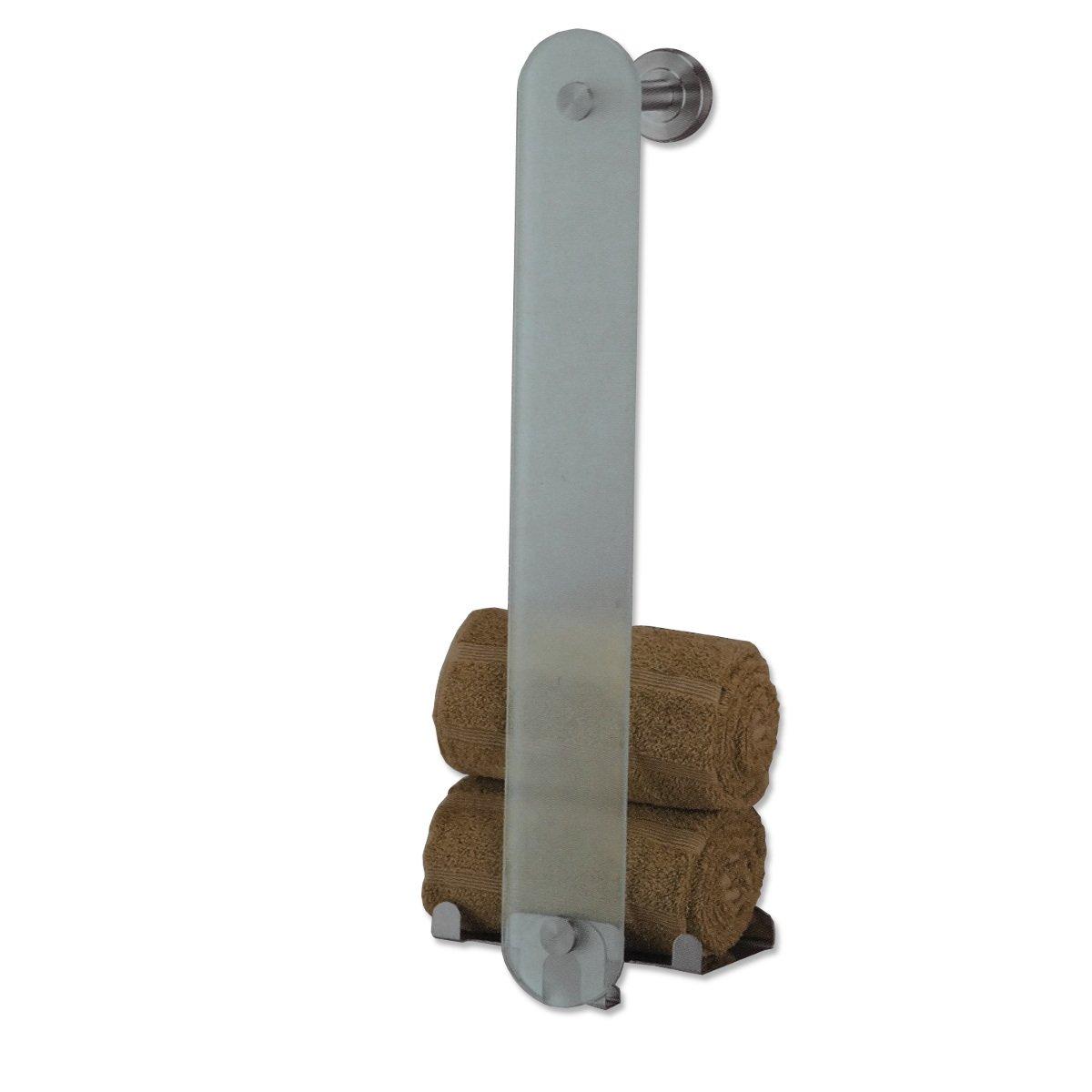 handtuchhalter aus glas und edelstahl handtuchhalter handtuchstange wandhalter amazonde kche haushalt - Handtuchhalter Dusche Glas