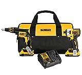 DEWALT DCK267D2 20V MAX XR Drywall Screwgun & Impact Driver Kit (Certified Refurbished)