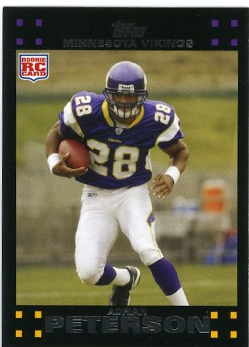 2007 Topps Football 301 Adrian Peterson Rc Rookie Card
