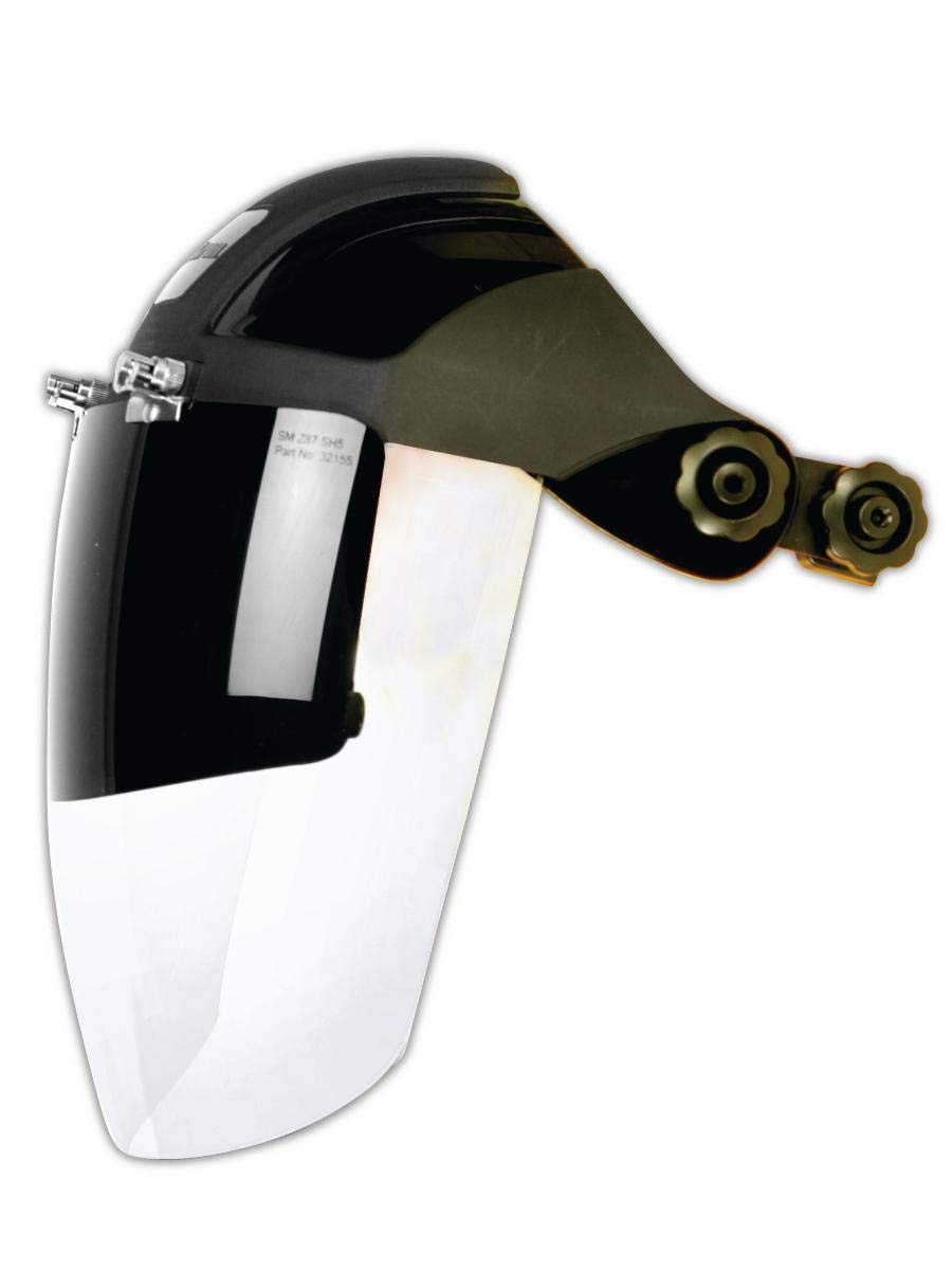 Sellstrom 32152 Faceshield with Hard Hat Slot Adapter, Capacity, Volume, Polycarbonate, Standard, Clear
