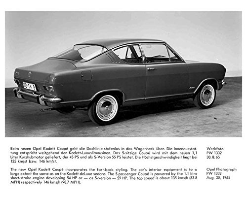 1966 Opel Kadett Coupe Factory Photo for sale  Delivered anywhere in USA