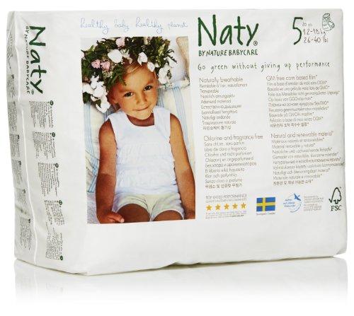 Naty by Nature Öko-Höschenwindeln, Größe 5, 11-25 kg, 4er Pack (4 x 20 Windeln)