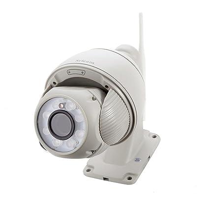 Cámara de vigilancia interior WiFi, Sricam sp008 profesional HD 960P PTZ 5 x Zoom 2.8