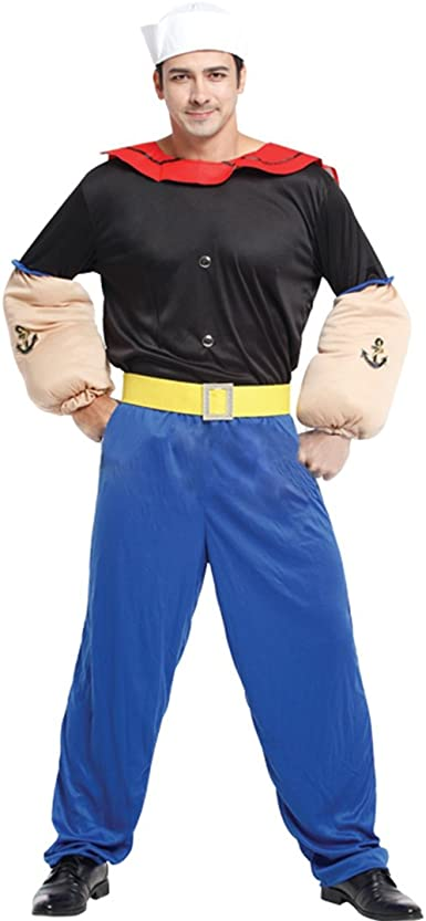 Para hombre adultos Popeye marinero Comic 80s – Disfraz sexy de ...