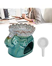 Aromatherapy Burner, Ceramic Essential Oil Furnace Aroma Burner for Bedroom for SPA for Office for Living Room(Ice cracked blue)