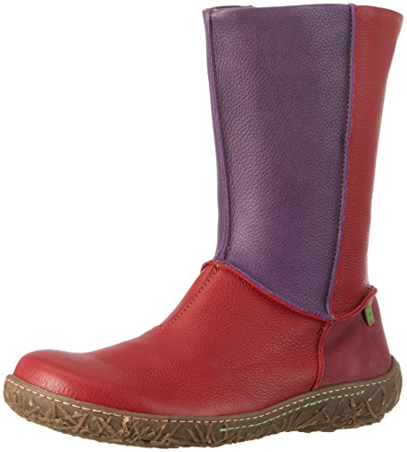 El Naturalista N796 Soft Grain Nido, Stivaletti Donna, Rosso (Tibet / Purple / Rioja), 38 EU