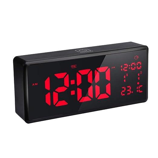 1-1 LED Electrónico Despertador, dormitar Iluminar Desde el Fondo ...