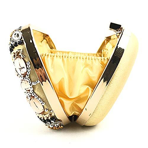 Gold strass à FZHLY carré Messenger femmes boîte sac à Vintage bandoulière fourre de des la tout Messenger Sac avec d'embrayage robe main sac Cheongsam soirée sac bandoulière 7fafqFP4w