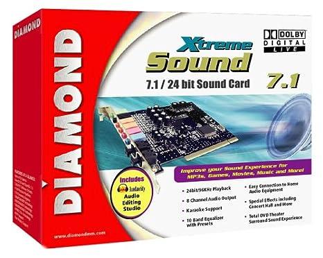 Amazon.com: Diamond xtremesound 7.1/24 bits tarjeta de ...