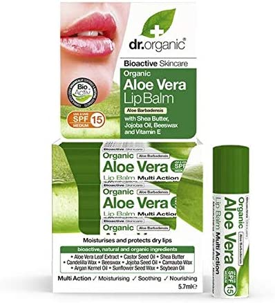 dr. Organic – Bioactive Organic Aloe Vera Lip Balm SPF15 (5.7ml) – Beauty & Personal Care – Skin Care – Lip Care – Balms & Moisturizers – Block Uva and Uvb Damage – Keep The Lips Smooth – Hong Kong