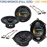 Fits Ford Bronco (Full Size) 1987-1996 Speaker Upgrade Harmony R65 R68 Package New